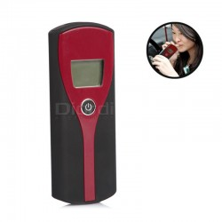 Diordi - Alcoholímetro Digital con Pantalla LCD - Negro