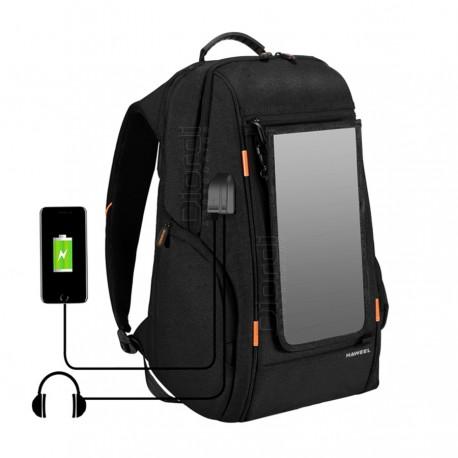 Mochila Con Panel Solar Haweel Carga USB