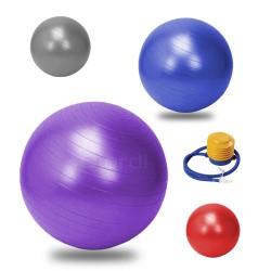 Diordi - Pelota de Pilates y Yoga Terapéutica con Inflador 85 cm - Morado