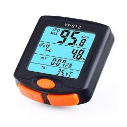 Generic - Velocimetro para Bicicleta LCD 24 Funciones - Negro