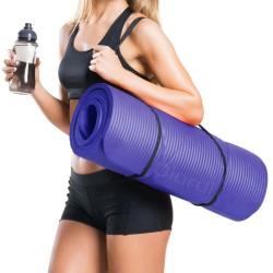 Combo Fitness Mat Yoga Azul + Banda de Ejercicios