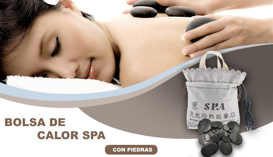 Bolsa De Calor Spa Con Piedras Masajes Relax