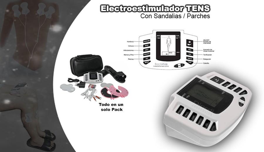 Electroestimulador TENS Con Sandalias Parches