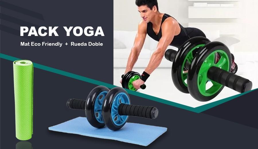 Pack yoga Mat + Rueda Doble para Abdominales